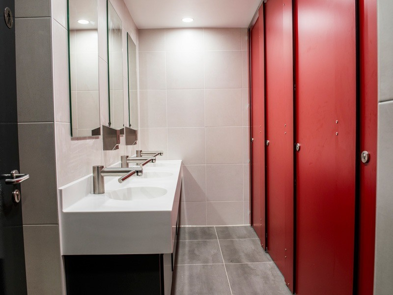 School washroom installation at london academy lan services for Design services london