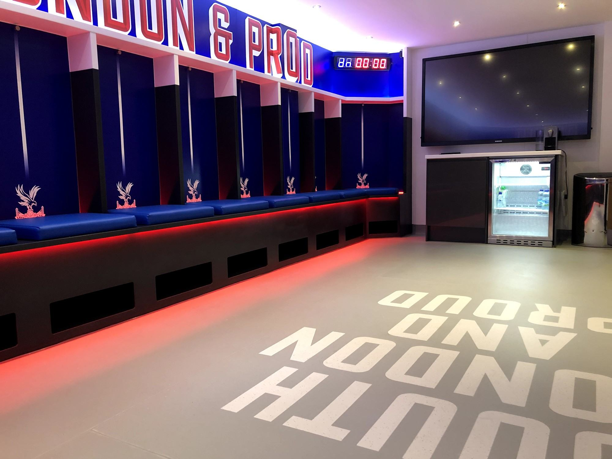 Crystal Palace FC Changing Room Refurbishment - Lan Services